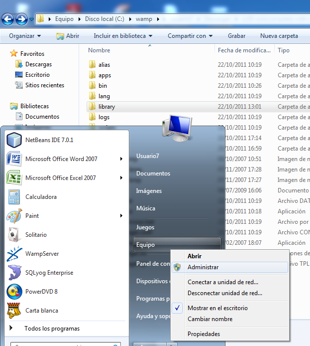 Instalar y Configurar Zend Framework con Netbeans 7.01 en Windows (3/6)