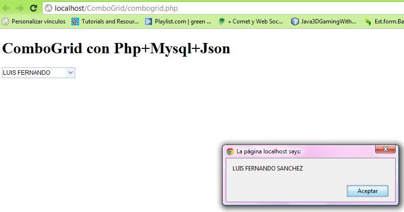 ComboGrid con Jquery+Json+Mysql+jquery easyui (5/5)