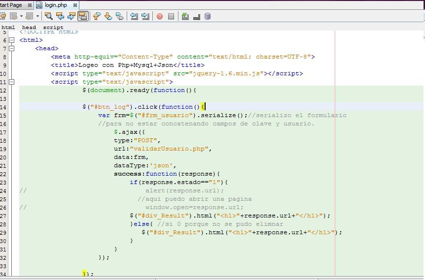 Login en PHP con ajax , json y Mysql (1/4)